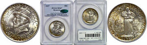 1937 ROANOKE SILVER COMMEMORATIVE PCGS MS 67 CAC