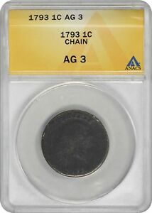 1793 LARGE CENT CHAIN AG03 ANACS