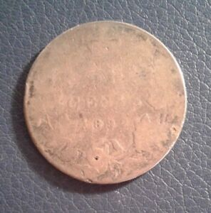 1892 CANADA  50 CENTS CANADA SILVER OLD COIN LOW MINTAGE  POOR