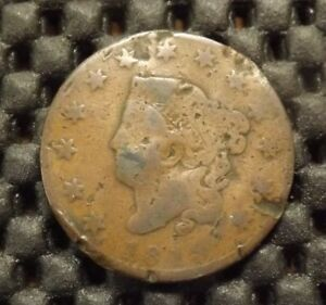 UNITED STATES OF AMERICA LARGE COIN CORNET 1 CENT 1819 AS SHOWN
