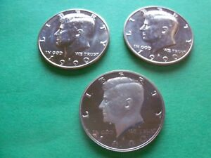 1990 KENNEDY HALF DOLLARS S/P/D  PROOF/MINT  3 COINS    KHD90