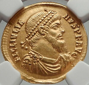 Click now to see the BUY IT NOW Price! JULIAN II 361 AD AUTHENTIC ANCIENT ROMAN PEDIGREED GOLD SOLIDUS COIN NGC CH XF