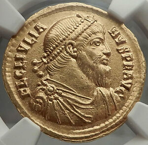 Click now to see the BUY IT NOW Price! JULIAN II 361AD AUTHENTIC ANCIENT ROMAN GOLD SOLIDUS COIN NGC CERTIFIED AU