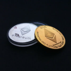 A PHYSICAL COMMEMORATIVE COINS COLLECTIBLE ETH ETHEREUM MINER COIN COLLECTION