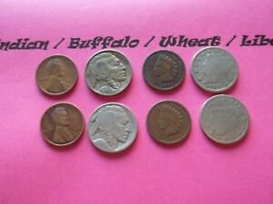 VINTAGE LOT OF 8 OLD AND  COINS THAT ARE 50 125 YEARS OLD  8 COINS  IVBW 24