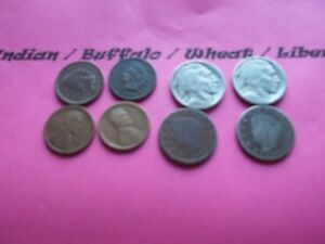 VINTAGE LOT OF 8 OLD AND  COINS THAT ARE 50 125 YEARS OLD  8 COINS  IVBW 27