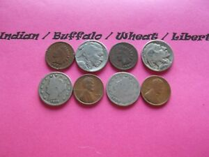 VINTAGE LOT OF 8 OLD AND  COINS THAT ARE 50 125 YEARS OLD  8 COINS  IVBW 23