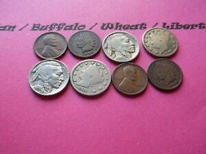VINTAGE LOT OF 8 OLD AND  COINS THAT ARE 50 125 YEARS OLD   8 COINS  IVBW 6