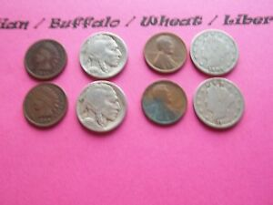 VINTAGE LOT OF 8 OLD AND  COINS THAT ARE 50 125 YEARS OLD   8 COINS  IVBW 8