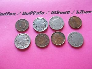 VINTAGE LOT OF 8 OLD AND  COINS THAT ARE 50 125 YEARS OLD  8 COINS  IVBW 36