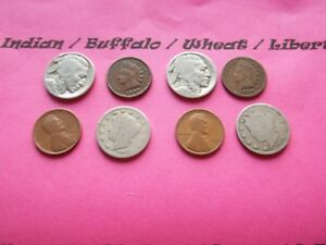 VINTAGE LOT OF 8 OLD AND  COINS THAT ARE 50 125 YEARS OLD  8 COINS  IVBW 39