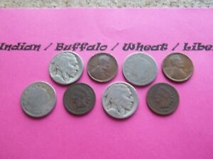 VINTAGE LOT OF 8 OLD AND  COINS THAT ARE 50 125 YEARS OLD   8 COINS  IVBW 1