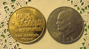 COMMERATIVE LARGE/DOLLAR SIZE /HEAVY MEDAL/TOKEN /LOUIS TUSSAUDS TEXAS 1