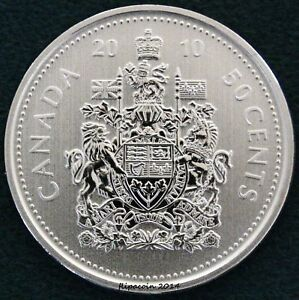 2010 CANADIAN SPECIMEN HALF DOLLAR FIFTY CENT COIN  LOW MINTAGE