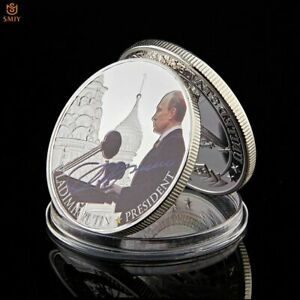 RUSSIAN PRESIDENT VLADIMIR PUTIN SILVER CELEBRITY COMMEMORATIVE COIN COLLECTION