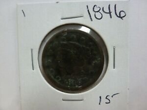 1846 DRAPED BUST LARGE CENT 1