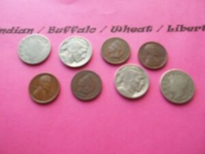 VINTAGE LOT OF 8 OLD AND  COINS THAT ARE 50 125 YEARS OLD  8 COINS  IVBW 10