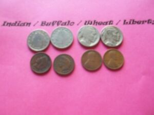 VINTAGE LOT OF 8 OLD AND  COINS THAT ARE 50 125 YEARS OLD  8 COINS  IVBW 32