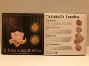 ABRAHAM LINCOLN 2010 UNION SHIELD CENT COLLECTION PENNIES UNCIRCULATED US MINTED