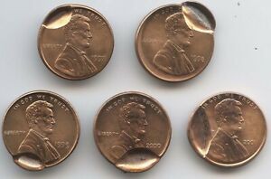 5 PCS. DIFF DATE CENTS W/INDENT STRIKE