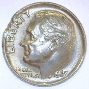 1963 10 SILVER RAGGED END CLIPPED PLANCHET