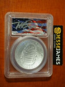 2019 P UNCIRCULATED SILVER APOLLO 11 DOLLAR PCGS MS70 FLAG CLEVELAND FIRST DAY