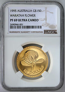 Click now to see the BUY IT NOW Price! 1995 $150 GOLD PROOF FLORAL EMBLEMS OF AUSTRALIA WARATAH FLOWER NGC PF69 UCAM