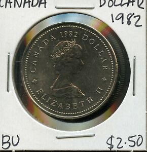 1982 CANADA 125TH CONFEDERATION   CONSTITUTION ANNIVER. COMMEM. $1 DOLLAR FC163
