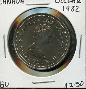 1982 CANADA 125TH CONFEDERATION   CONSTITUTION ANNIVER. COMMEM. $1 DOLLAR FC166