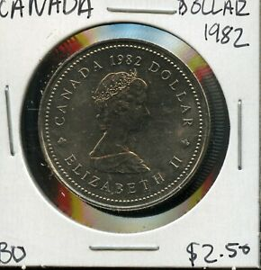 1982 CANADA 125TH CONFEDERATION   CONSTITUTION ANNIVER. COMMEM. $1 DOLLAR FC172