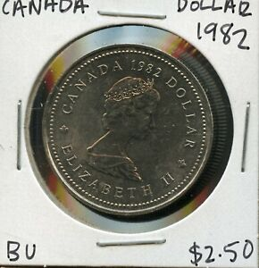 1982 CANADA 125TH CONFEDERATION   CONSTITUTION ANNIVER. COMMEM. $1 DOLLAR FC173
