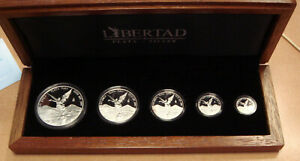 2010 MEXICO COINS SET LIBERTAD PROOF COIN 1   1/20 OZ SILVER MINTAGE 1000 SETS