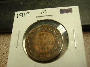 1919   CANADA ONE CENT   CANADIAN PENNY   NICE COIN