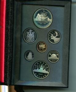 CANADA 1987 7 COIN  PROOF SET ORIGINAL BOX DAVIS STRAIT 1869L