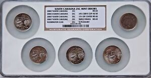 Click now to see the BUY IT NOW Price! 2000 P NGC  SOUTH  CAROLINA STATE  QUARTER  25C 5 PC SLABBED  COIN SET  ERROR