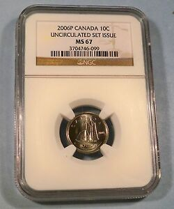 Click now to see the BUY IT NOW Price! 2006 P CANADA NGC MS67 DIME 10C UNCIRCULATED MINT SET ISSUE MS 67