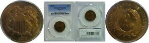 Click now to see the BUY IT NOW Price! 1873 OPEN 3 TWO CENT PIECE PCGS PR 66 RB OPEN 3