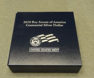 2010 BOY SCOUTS OF AMERICA CENTENNIAL PROOF COMMEMORATIVE SILVER DOLLAR