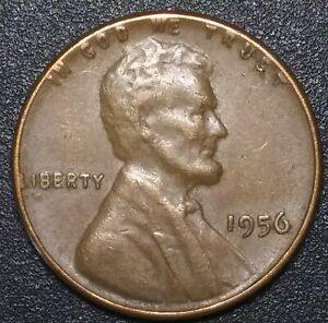 1956 LINCOLN WHEAT CENT : ONE PENNY COIN : 40