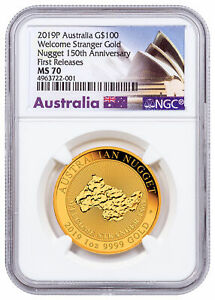Click now to see the BUY IT NOW Price! 2019 P AUSTRALIA GOLD NUGGET WELCOME STRANGER $100 NGC MS70 FR OPERA SKU58087