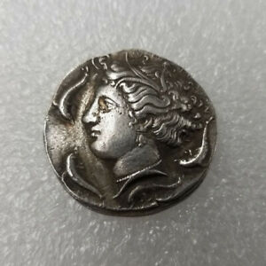 SILVER PLATED GREEK COIN ANCIENT ALEXANDER III THE GREAT GREEK COIN