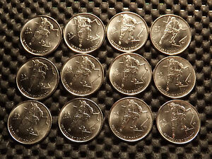 LOT 12 CANADA COINS VANCOUVER 2010 WINTER OLYMPICS  MEN'S HOCKEY  BU