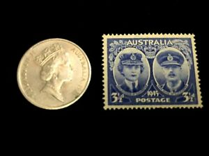 AUSTRALIA COLLECTION   UNSED STAMP & 10 CENTS USED COIN   EDUCATIONAL ITEM
