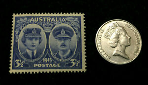 AUSTRALIA COLLECTION   UNSED STAMP & 5 CENTS USED COIN   EDUCATIONAL ITEM