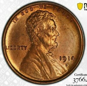 Click now to see the BUY IT NOW Price! 1914 D LINCOLN WHEAT CENT 1C PCGS MS64 RD KEY DATE