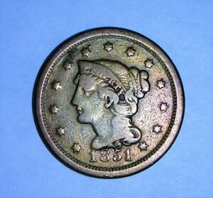 USA LARGE CENT   1851   NICE COIN  SEE PICS.