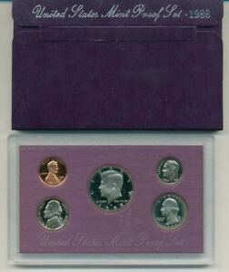 1988 S UNITED STATES PROOF SET ORIGINAL BOX