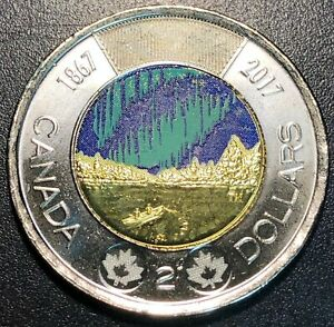 2017 CANADA GLOW IN THE DARK $2 DOLLAR TOONIE