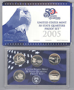2005 UNITED STATES MINT UNCIRCULATED PROOF QUARTER COIN SET