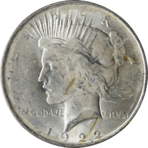 1922 P PEACE DOLLAR   ERROR  DIE TRAIL STRIKE?? GREAT DEALS FROM THE EXECUTIVE C